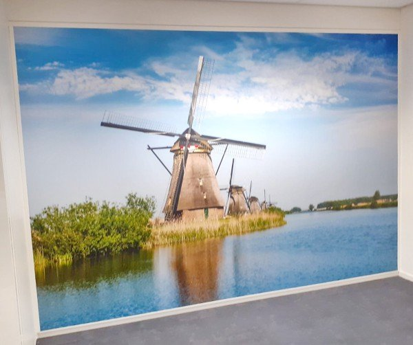Fotobehang- Veldhuizen Grafisch Effect - Barneveld