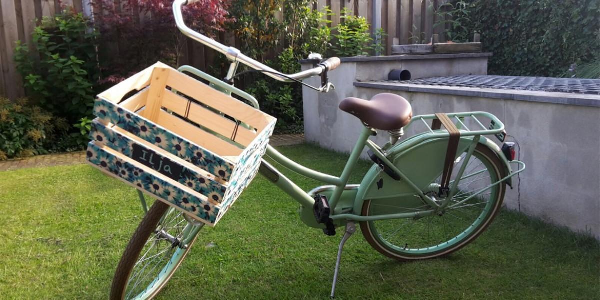 houten fietskrat bedrukken